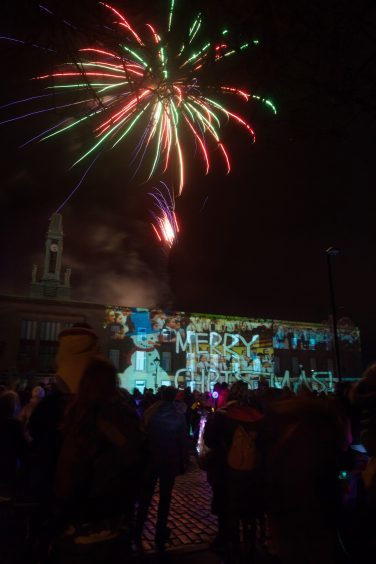 Fireworks at the Kirkcaldy lights switch-on.