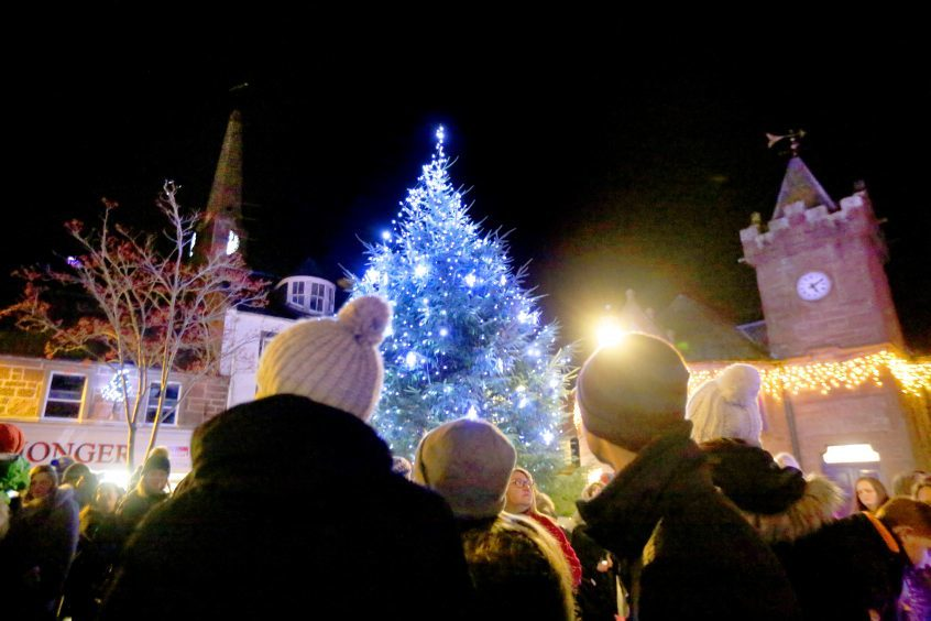 Kirrie's Christmas lights switch on took place on Saturday.