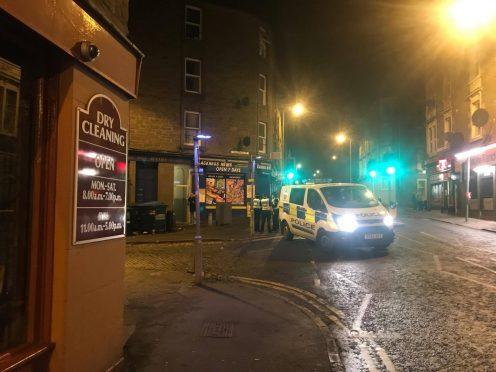 Police attended the scene.