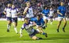 Peter Horne scores Scotland's sixth try which just about secured victory over Samoa.