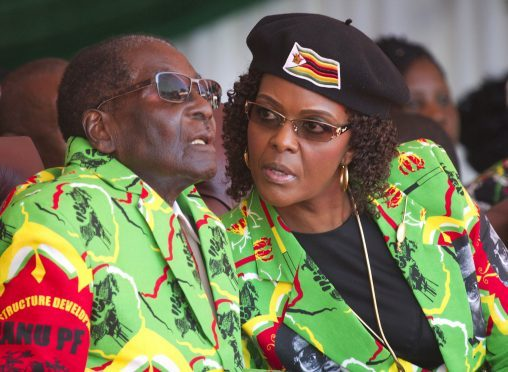 Robert Mugabe and his wife Grace photographed in June.