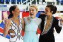 Dundee figure skaters Natasha McKay, Danni Harrison and Karly Robertson.