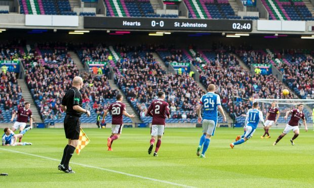 The incident happened after Saints played Hearts at Murrayfield.