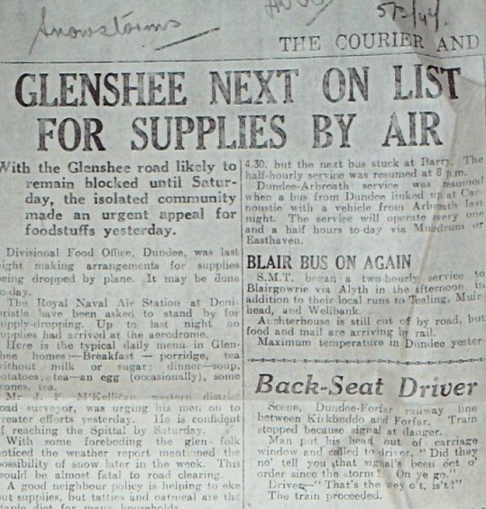 Courier coverage of the 1947 winter.