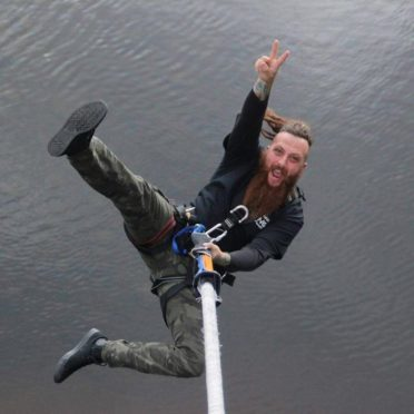 Chris Telford mid-bungee!