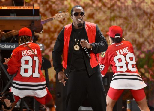"Recording artist Sean ""Diddy"" Combs performs with dancers."