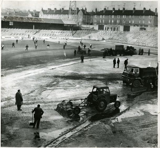 Tannadice Grounds Work, January 25 1963.
