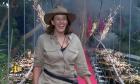 Kezia Dugdale leaves the jungle.