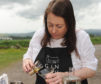 Kim Dickson of the Gin Bothy whose business was the setting for Monday's launch.