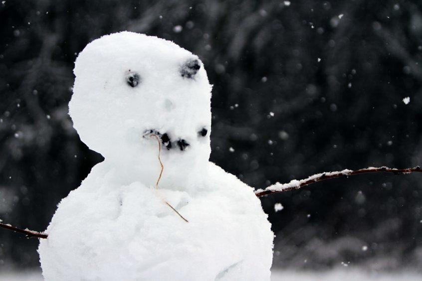 A snowman in Kinross