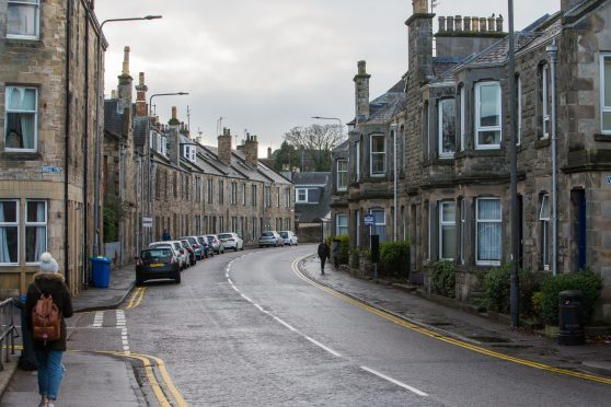 Bridge Street in St Andrews, where 54% of residential properties are HMOs.