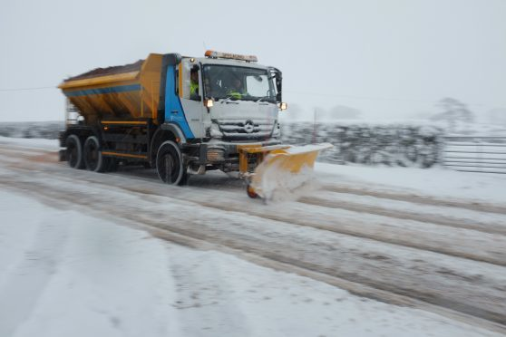 Despite roads being treated, grit may be less effective in low temperatures.