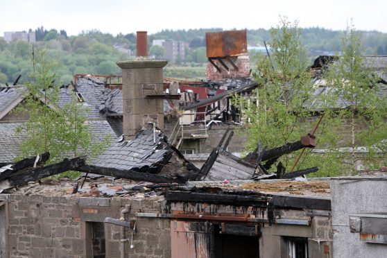 The derelict Strathmartine Hospital had already been damaged by various incidents of fire-raising.