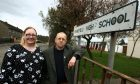 Fay Sinclair and Councillor Ian Ferguson agree new schools are needed