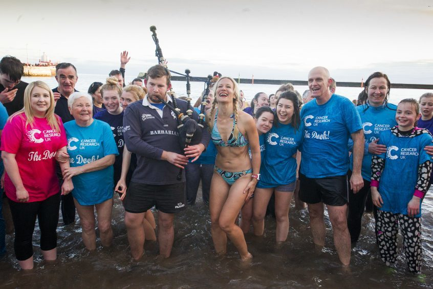 Arbroath New Year Dook at Arbroath Harbour