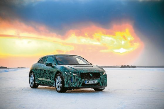 All electric Jaguar I-Pace goes through winter testing at