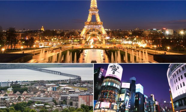 Paris, Dundee and Tokyo are all named on CNN's list.