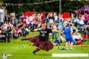 Heavyweight Scott Rider during the shot putt at a previous Crieff Highland Gathering.