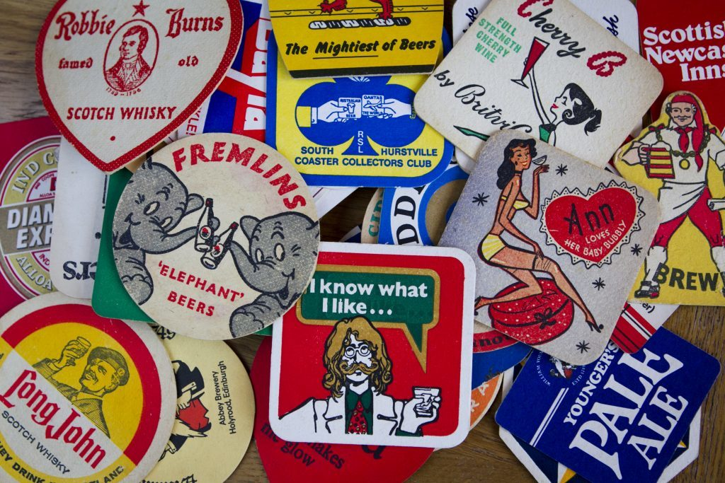 Some of Jans beermat collection