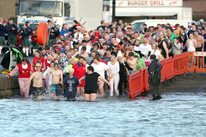 The New Year's Day Dook, Broughty Ferry.