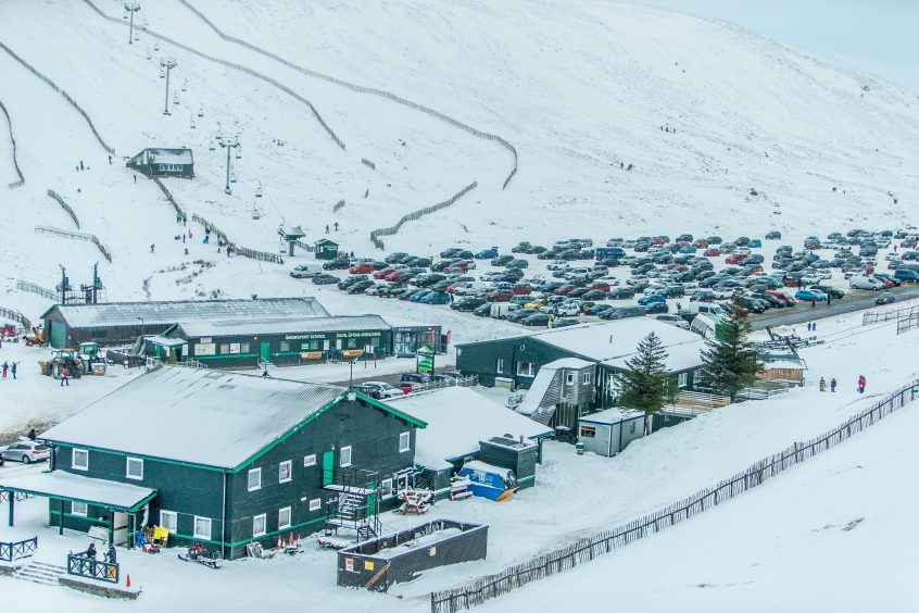 More than 1,000 made their way to Glenshee Ski Centre on Sunday