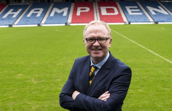 New Scotland boss Alex McLeish.