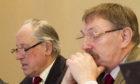 Finance convener Angus Macmillan Douglas, left, and council leader Bob Myles at the budget briefing.