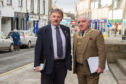 Council leader Bob Myles with Provost Ronnie Proctor