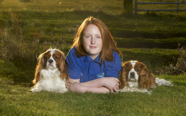Megan Watson with her dogs Charlie and Ruby