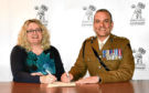 Alison Henderson with Lt Col Al Jarvis