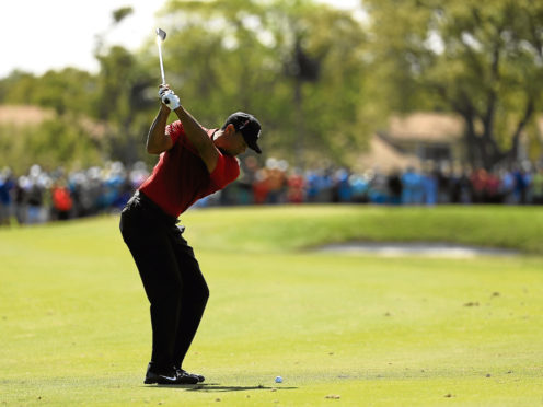 Tiger Woods in the final round of Honda Classic. He has played better in his latest comeback than anyone had a right to expect.