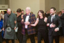 Jim Leishman and his family at the Margaret Leishman Foundation ball in Dunfermline.