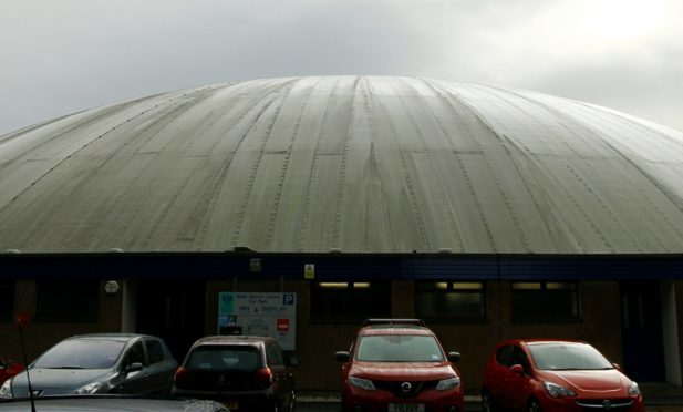 The dome of the Bell's Sports Centre in Perth.