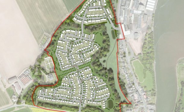 A map showing the proposed development in Guardbridge