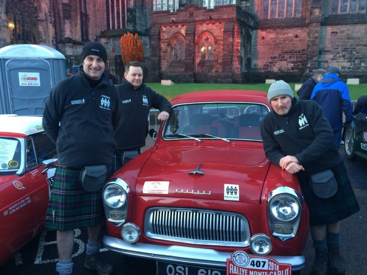 Carnoustie's Kilts to Carlo crew of Stephen Woods, David Tindal and Alan Falconer