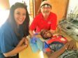 Elaine Harris and Stuart Little with a patient in Cape Verde.