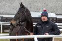 The racehorse at Keith Dalgleish's yard in Carluke.