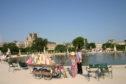 Jardin Tuileries in Paris.