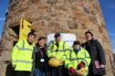 L-R Henry Sun, Lesley McNaughton, John Kinsman, Anne Kinsman and St Andrews cluster venue manager Louise Logan