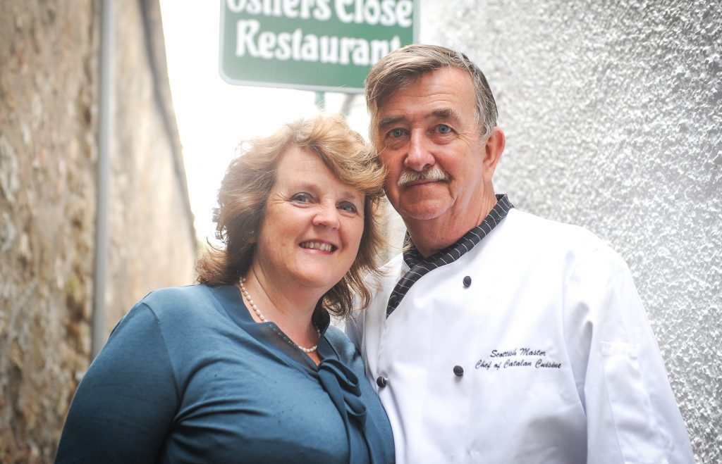 Amanda and Jimmy Graham, owners of Ostlers Close Restaurant in Cupar