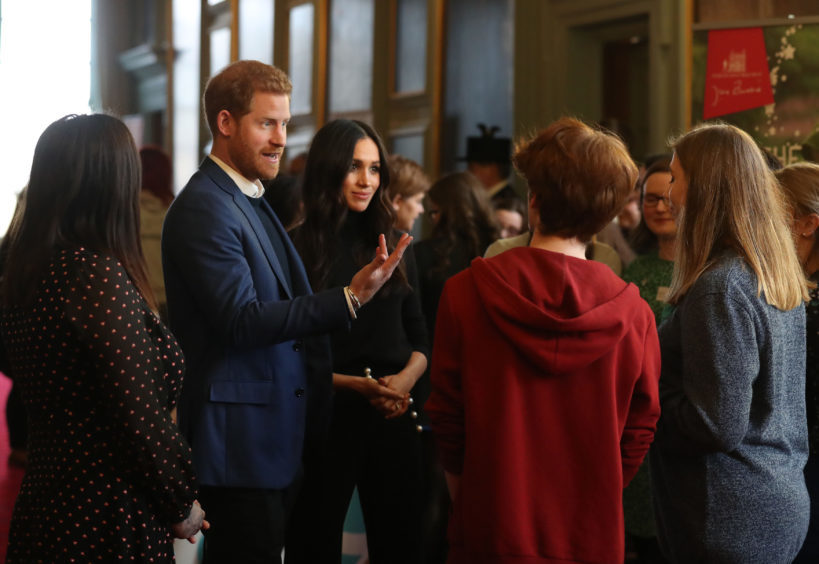 Prince Harry and Meghan Markle at the Palace of Holyroodhouse