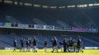Scotland train at Murrayfield ahead of Saturday's Calcutta Cup match v England.