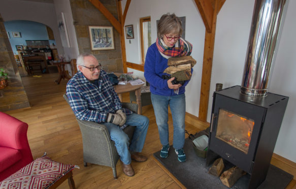 Ellen Colingsworth and Roger Mason have no gas to cook, heat or hot water their home after the delivery for Saturday failed to appear.