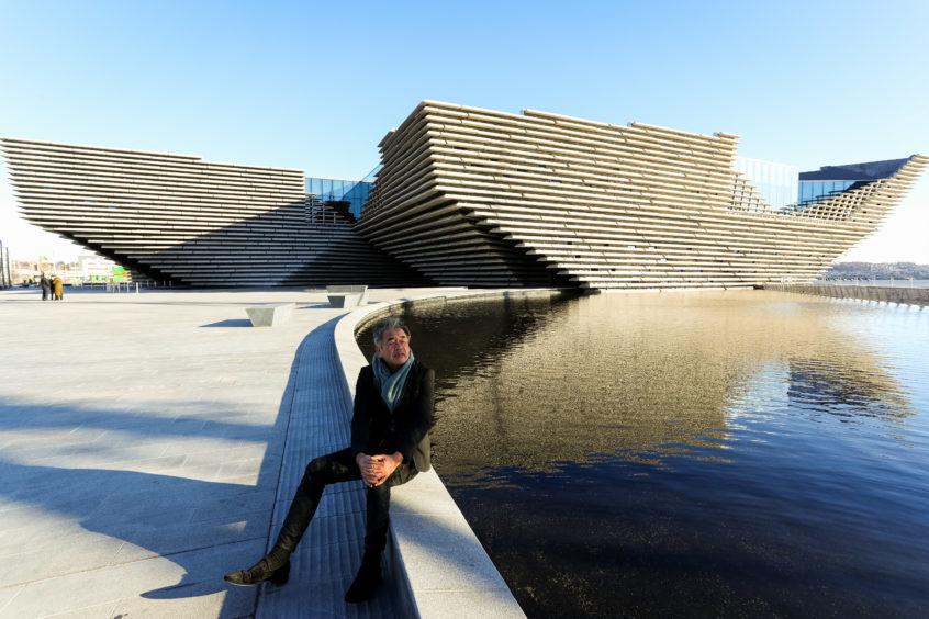 Architect Kengo Kuma pictured outside V&A Dundee.