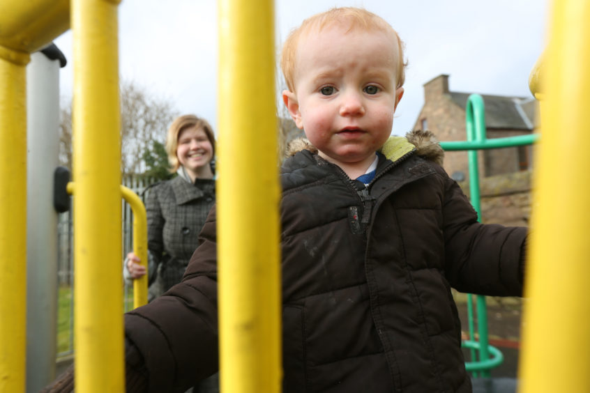 Dundee woman Shauna Gauntlett (with her son Jacob) who had so little money after the birth of her son that she could not afford maternity pads to tackle her post-natal bleeding.