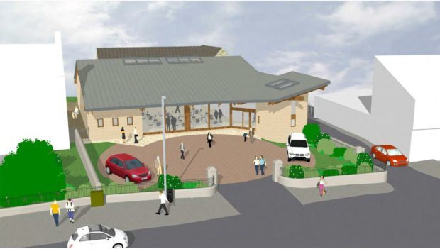 An architect's impression of the new church building.