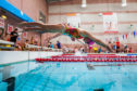 Young swimmers in action.