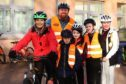 Pupils at Ballumbie Primary School enjoy a bikeability session with Grant Pettigrew and Gayle Ritchie.