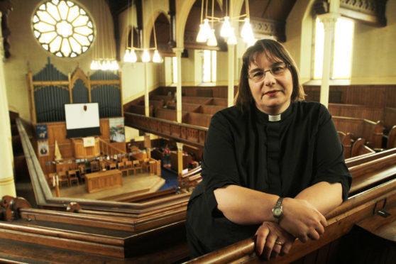 St Margaret's minister the Rev Maggie Hunt.