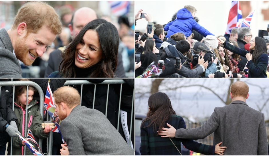 Prince Harry and Meghan Markle visiting Edinburgh